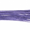 Metallic Braided Cord 2mm 12m Purple